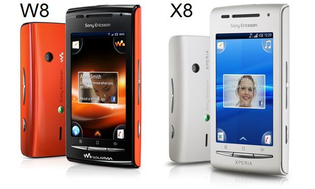 30menit.com – Xperia X8 (E15i) dan W8 (E16i), si kembar dari Sony