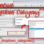 Membuat Daftar Dropdown Kategori dan Tags – Desain WP Theme Lanjutan #wp_advance